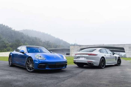 Porsche holds its first Panamera media drive