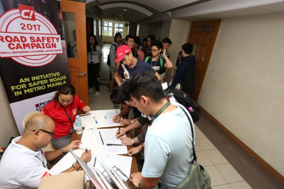 C! Magazine conducts Road Safety Campaign in DLSU
